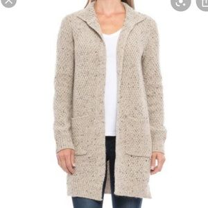Cynthia Rowley donegal sweater white cardigan